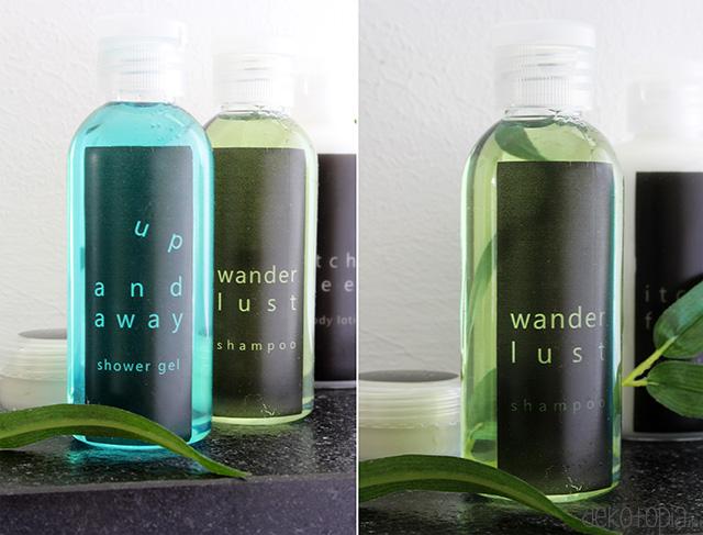 Etiketten für Reiseflaschen gratis Download