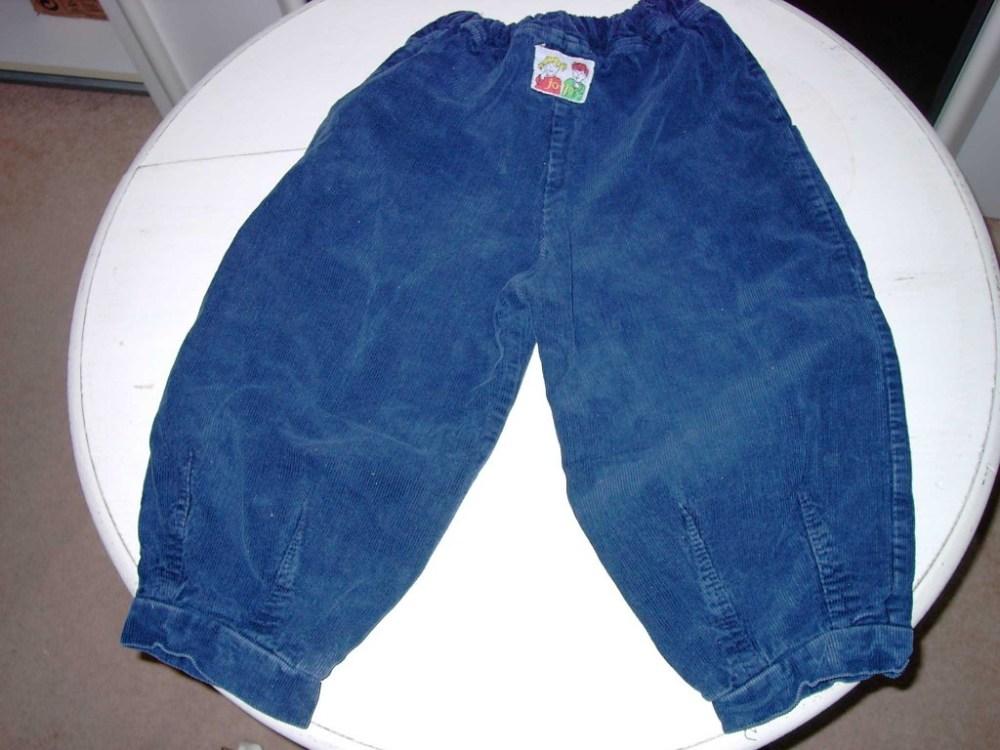 blauw rib broek mt 104 merk jo-tjo