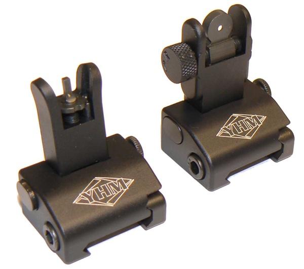 Del-Ton, Inc. AR-15 YHM QDS Front & Rear Flip Up Sights - Set