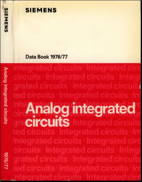 Analog Integrated Circuits 1976 - Siemens