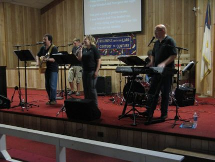 Acts of Praise kicked off camp with spirited praise and worship.