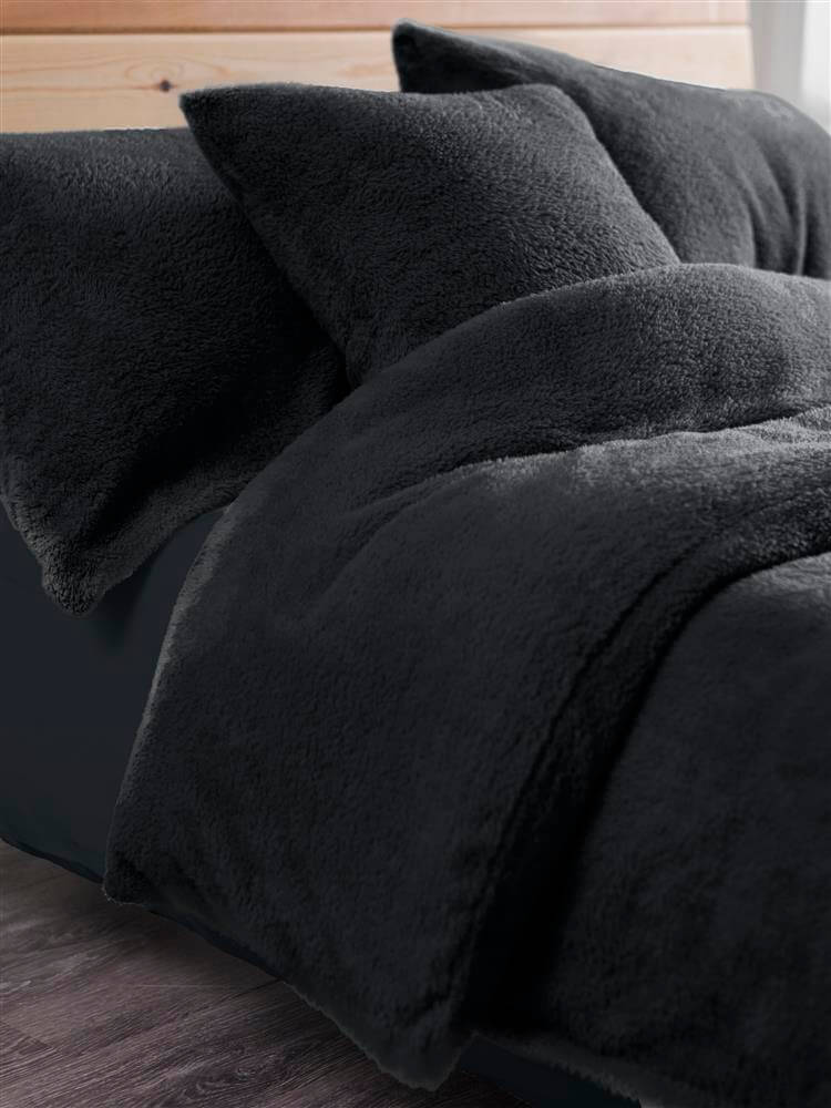 Teddy Fleece Duvet Set Throw And Cushion Covers De Lavish
