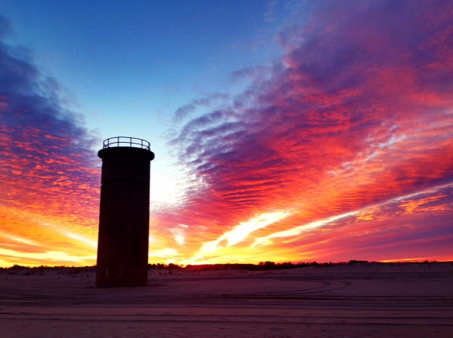 arctic blast, delaware sunset, ghost tower, wwII towers, fire towers, fort miles, cape henlopen state park, lewes, de