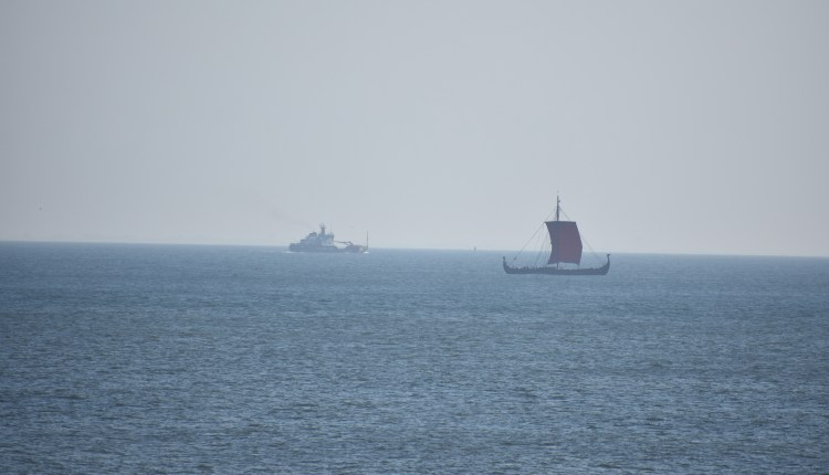 Draken Harald Hårfagre on her way to Ocean City, Maryland