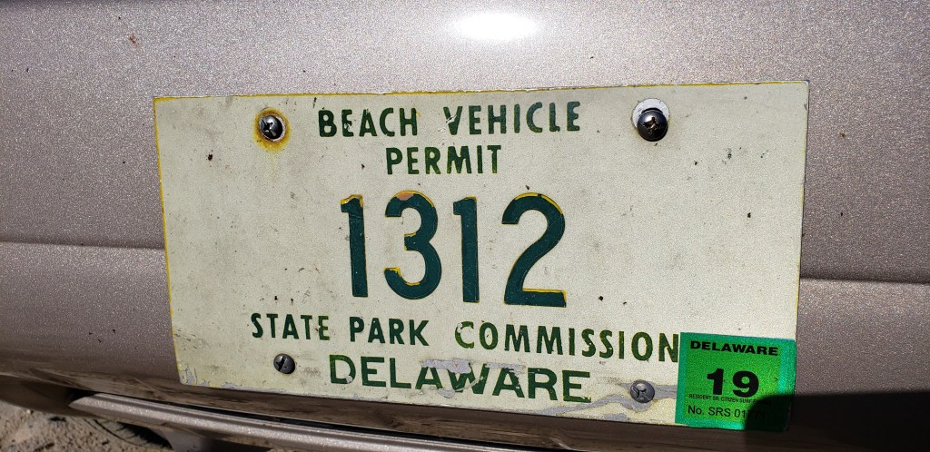 original delaware beach tag, surf tag old school, delaware surf fishing tag, beach clean up, sussex county, delaware,