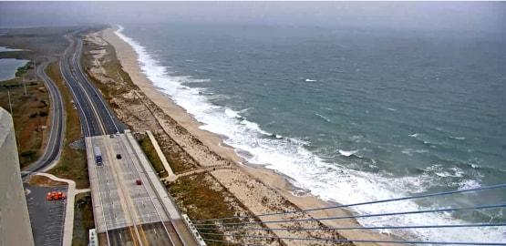 Delaware Seashore State Park form the north tower deldot cam 8:30 AM Oct3, 2019