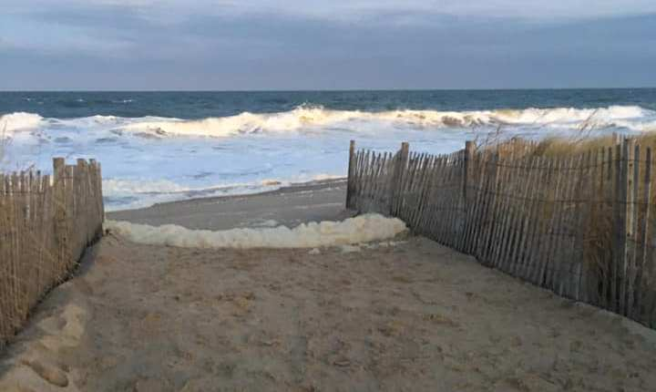 Rehoboth beach 6:30 Pm Sue Sokira an hour from high tide.