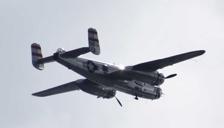 We got a fly by in the afternoon by an old war bird