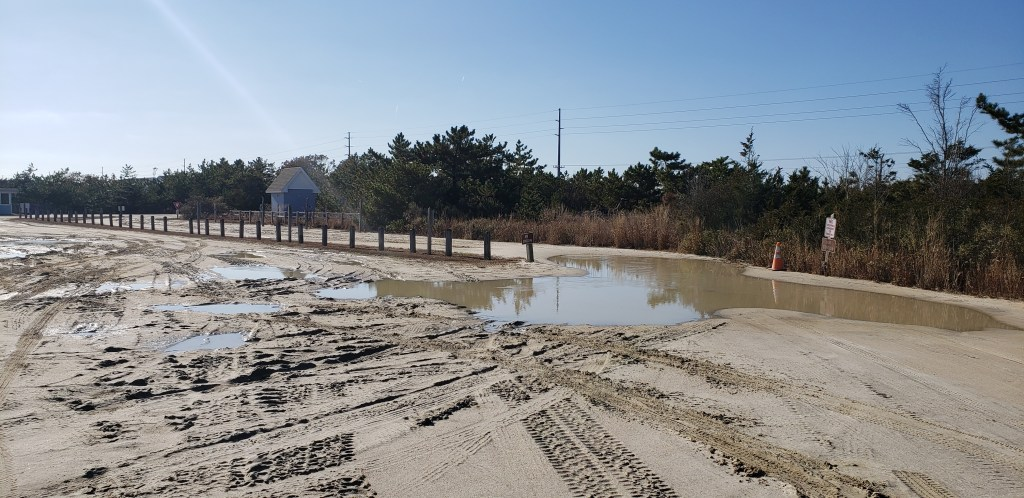 3rs, delaware seashore state park, beach conditions, parking lot