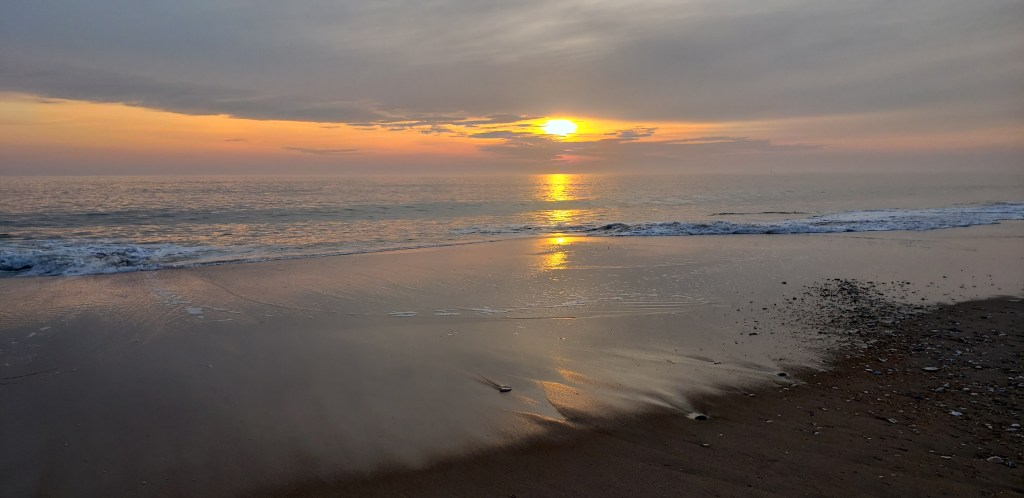 sunrise, Delaware beaches, delaware sea shore state park, delaware surf fishing