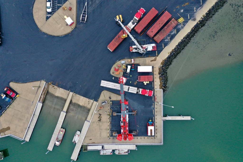 masseys dredge project, driscoll drones, masseys ditch, long neck, delaware, sussex county