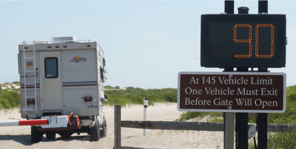 air down dummy, assateague island state park, osv count, osv life, maryland, surf fishing beaches, gate at surf fishing beach