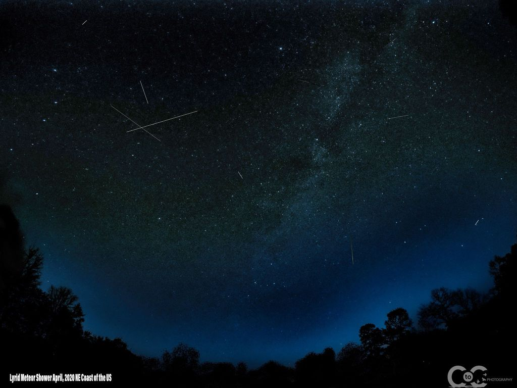 lyrid meteors, delaware, sussex county, shooting stars, lyrids 2020