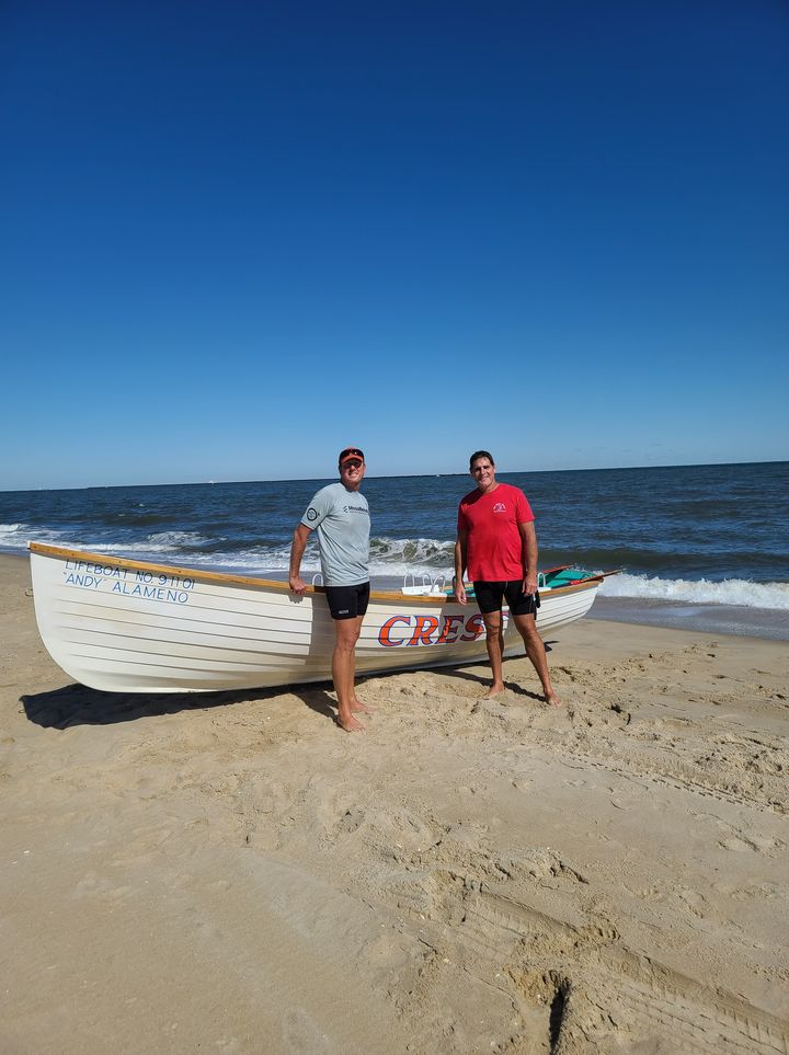 lifeboat number 9 11 01, Andy Alameno, crest boat, wildwood new jersey, row across delaware bay