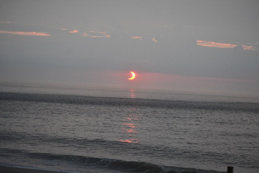 Annular Solar Eclipse, delaware surf fishing, indian river inlet bridge, charles w cullen bridge,