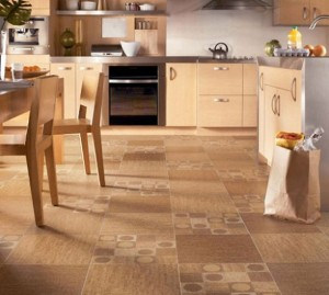 Kitchen Cork Flooring Design 300x269