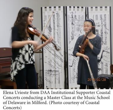 Elena Urioste a Master Class at the Music School of Delaware in Milford