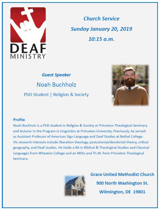 Church Service Sunday January 20, 2019 10:15 a.m.
