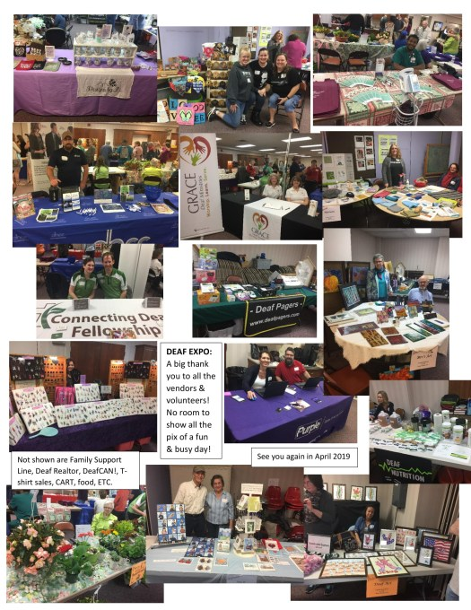 Last years booths at Deaf Expo (2018), not all shown.