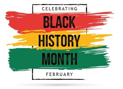 celebrating black history month - February (words printed out here)