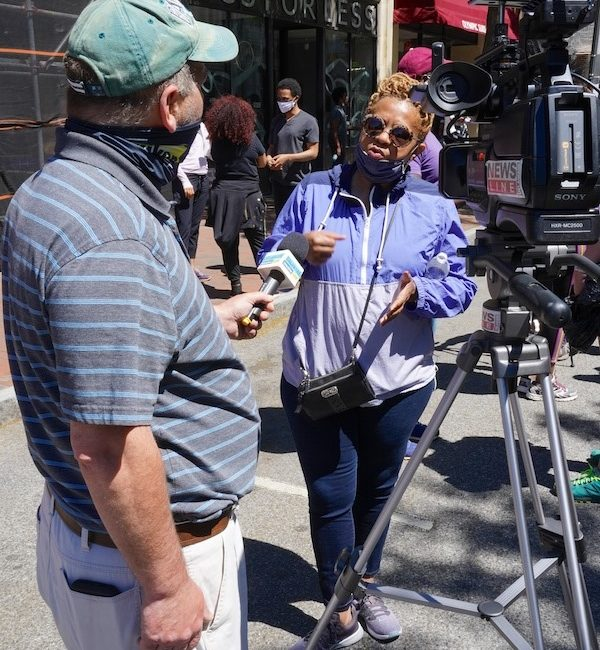 George interviews City Council President Haniffa Shabazz following unrest in Wilmington, Delaware Sunday May 31, 2020.