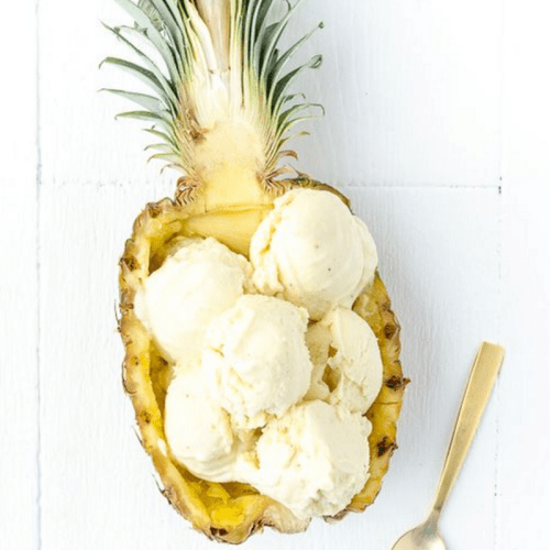 Summer Iced-Treats Pineapple Coconut Icecream