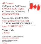 J.Crew Arriving at Yorkdale on 8/18!