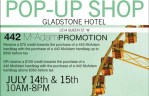 442 McAdam Pop-Up Shop: July 14 and 15 at the Gladstone