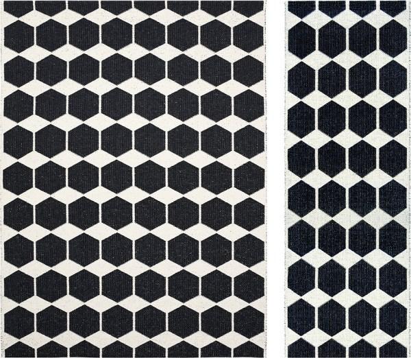 Alfombra de plástico Anna color black de Brita Sweden
