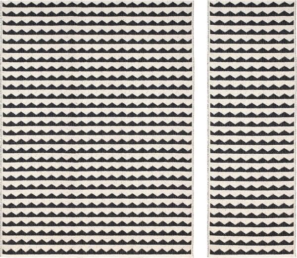Alfombra de plástico Gittan color black de Brita Sweden