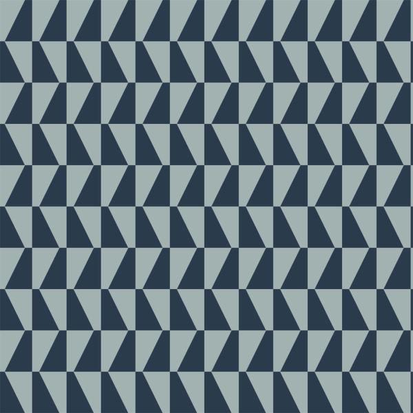 Papel pintado Trapez en color azul de la colección Scandinavian Designers de Borastapeter