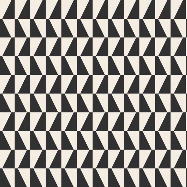 Papel pintado Trapez en color negro de la colección Scandinavian Designers de Borastapeter