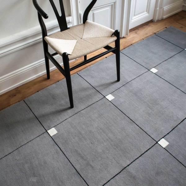 Alfombra de lana Modern Gray de Nordic Knots