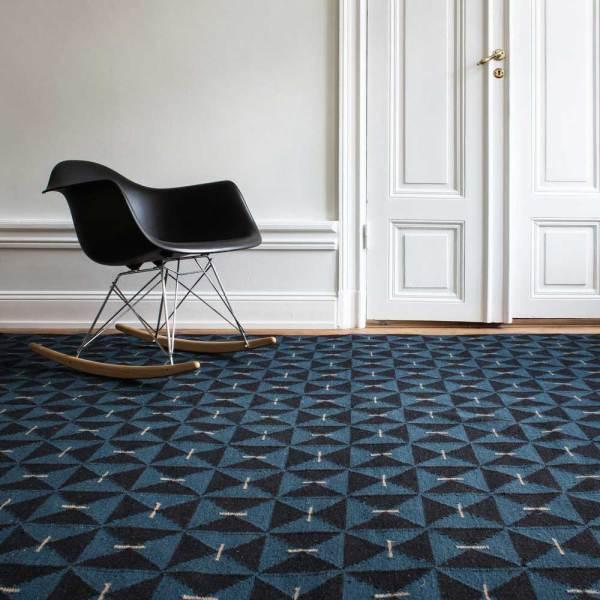 Alfombra de lana Mosaik Teal de Nordic Knots