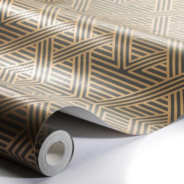 Papel pintado Skyline marrón de Engblad&Co