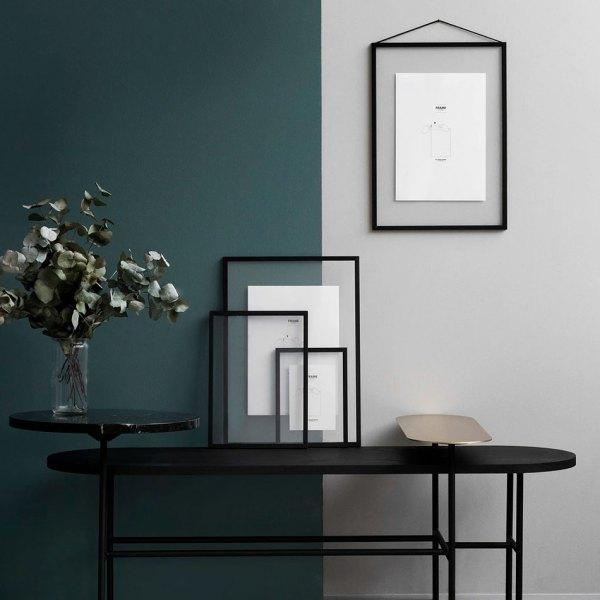 Frame marco de aluminio negro de Moebe