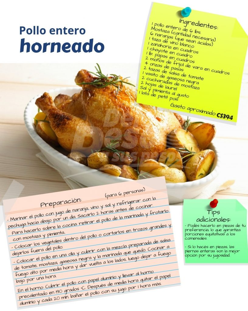receta pollo entero