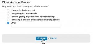 Delete Linkedin account