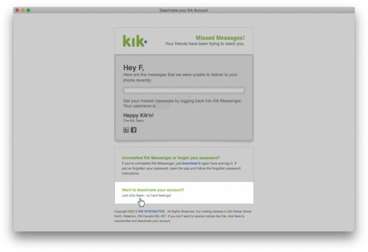 Remove Kik Messenger