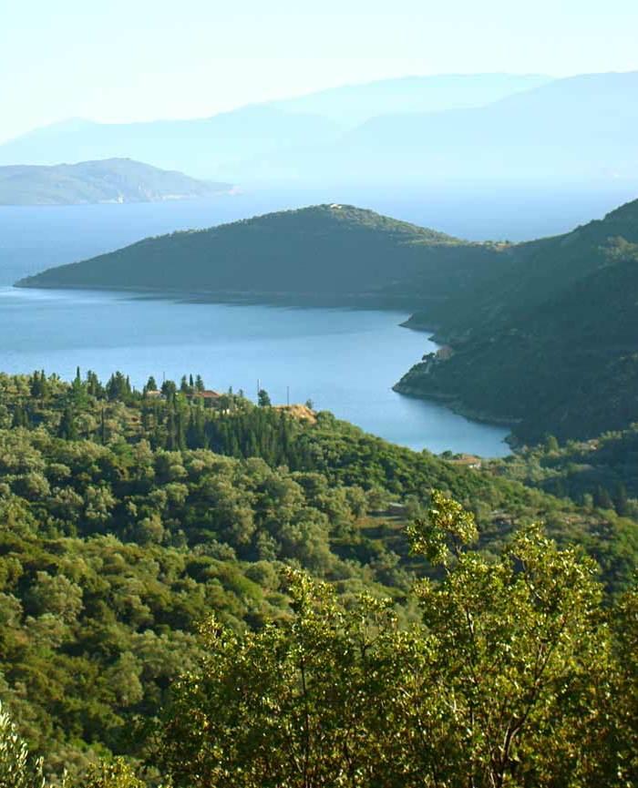 landscape of south Lefkada