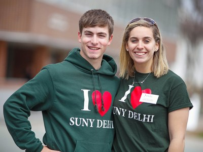 Two students make their love of SUNY - Delhi apparent