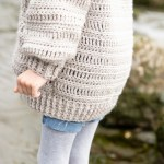 Oversized Crocheted Cardigan Free Pattern Tutorial