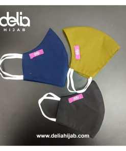 Masker Kain 2 Lapis - Masker Kain Basic 1 - Delia Hijab