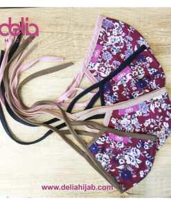 Masker Kain 2 Lapis - Masker Kain Motif Bunga Autumn - Delia Hijab