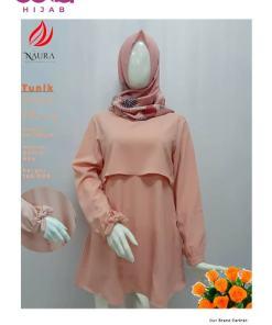 Baju Modern Masa Kini - Tunik Naura Faranisha - Delia Hijab - Salem