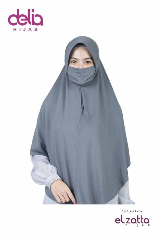 Bergo Elzatta Jumbo - Zaria Masker Kiana - Delia Hijab