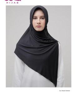 Bergo Instan Zoya - Bergo Adria Casual - Delia Hijab - Hitam