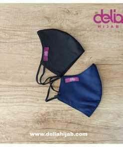 Masker Kain 2 Lapis - Masker Polos Pria - Delia Hijab