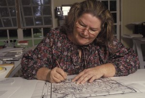 (FILE PHOTO) FILE - January 29, 2015: Australian author Colleen McCullough, best known for her novel ' The Thorn Birds', has died at the age of 77. NORFOLK ISLAND 1990: Australian writer Colleen McCullough at home in Norfolk Island, Australia. (Photo by Patrick Riviere/Getty Images)
