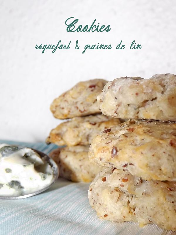 Cookies roquefort et graine de lin